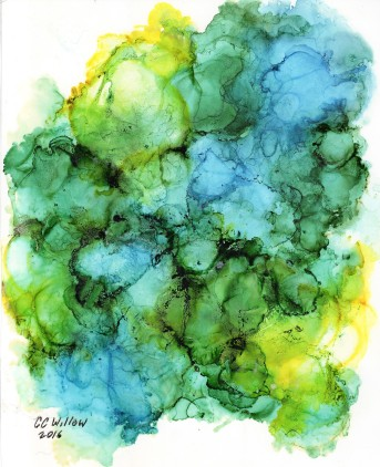 Springing Forth by Pacific NW artist CC Willow