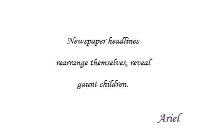 Newspaper senryu