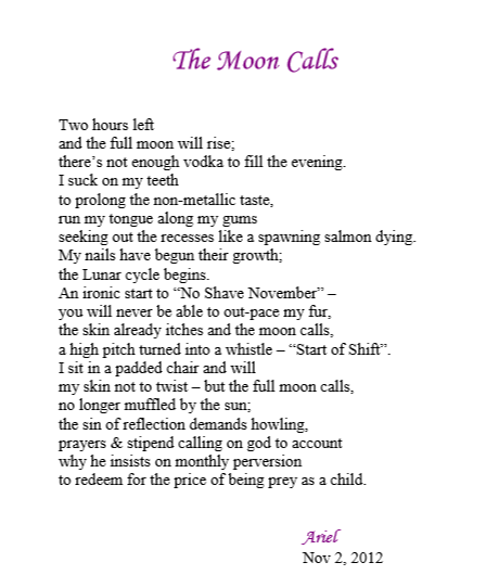 The Moon Calls by Ariel
