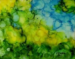 Underwater 8x10 alcohol ink & resin