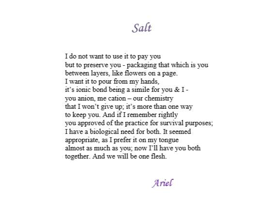 Salt by Ariel