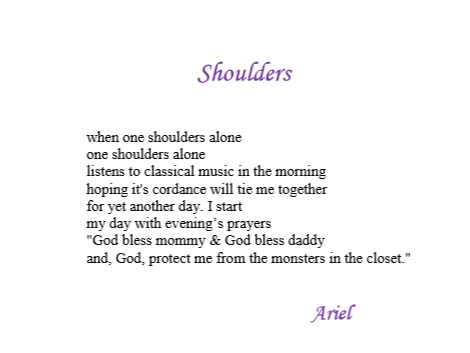 Shoulders by Ariel