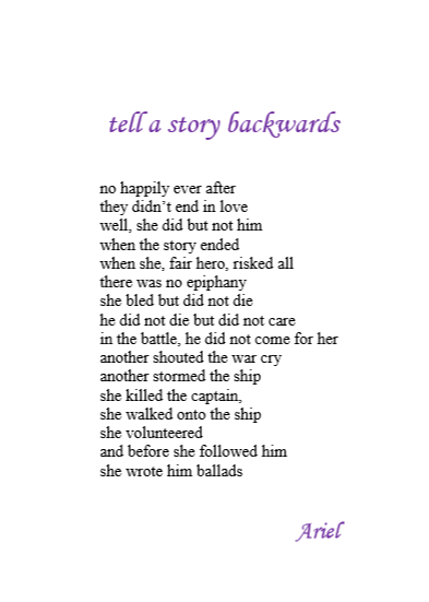 Tell A Story Backwards by Ariel