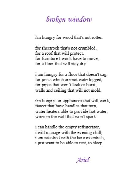 Broken Window by Ariel