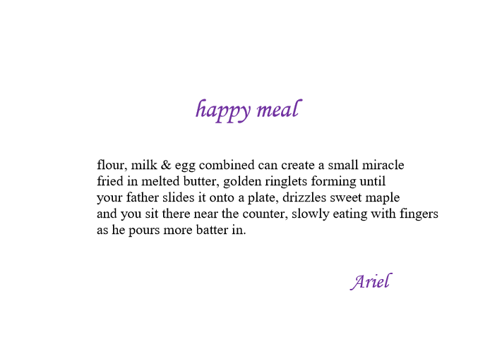 Happy Meal by Ariel