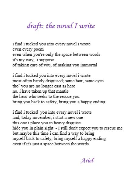 The Novel I Write draft by Ariel