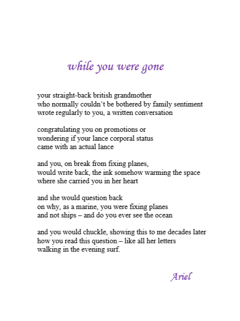While You Were Gone by Ariel