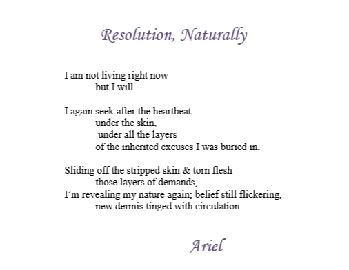 Resolution Naturally by Ariel