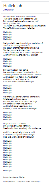 Hallalujoh lyrics