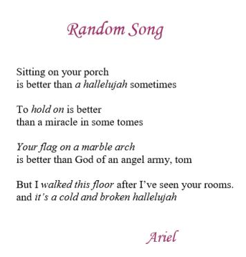 Random Song by Ariel