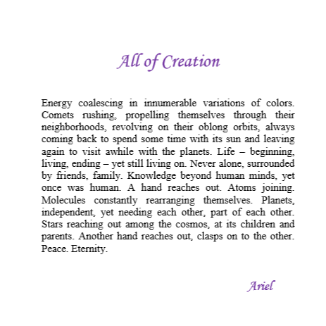 All of Creation by Ariel
