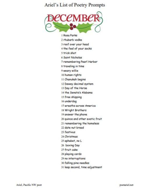 ariels list december