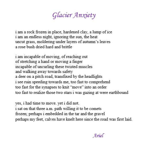 Glacial Anxiety by Ariel