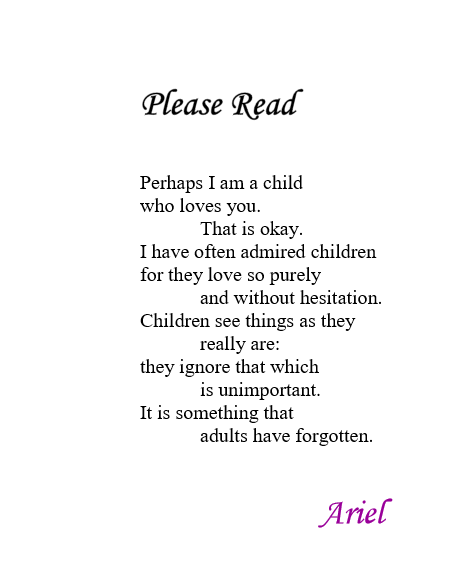 Please Read by Ariel