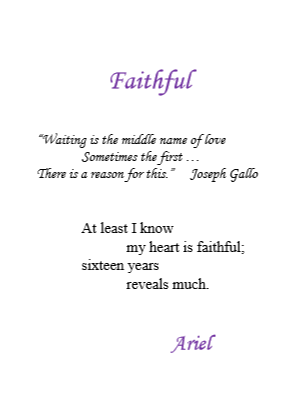 Faithful by Ariel