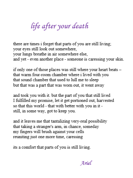 Life After Your Death by Ariel