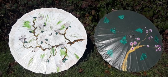 Cherry BBlossom Festival parasols by CC Willow