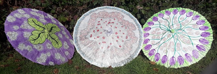 Cherry Blossom Festival parasols by CC Willow