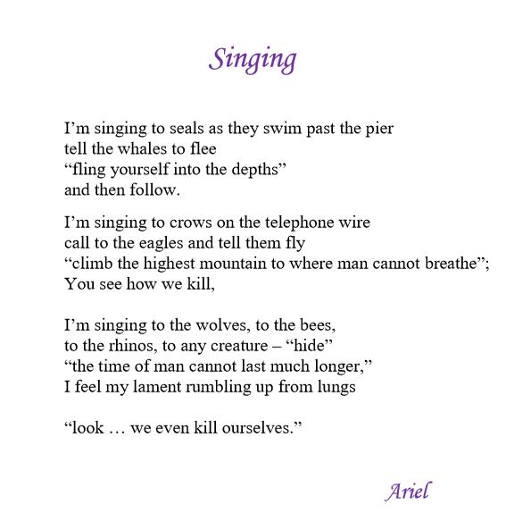 Singing by Ariel