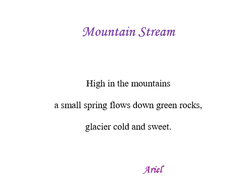 Mountain Stream by Ariel