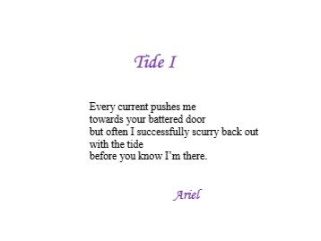 Tide 1 by Ariel