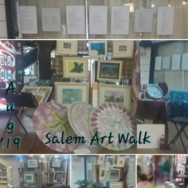 CC Willow and Ariel at August' Salem Art Walk.
