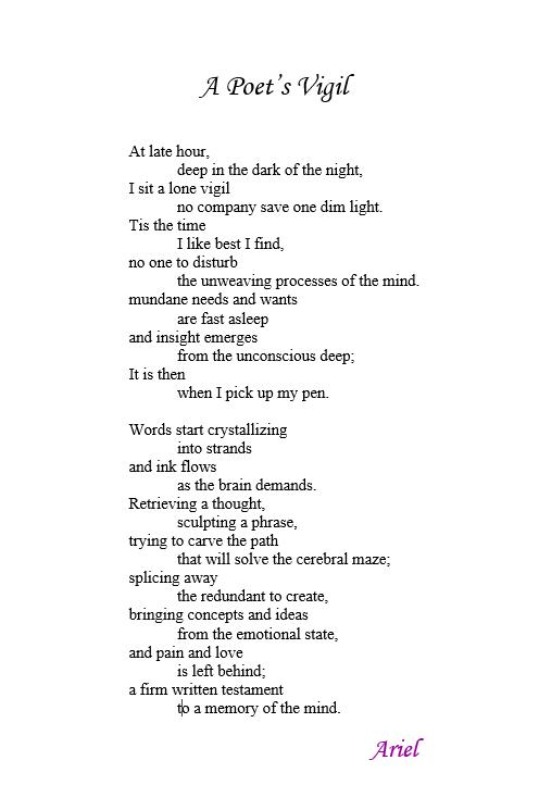 A Poets Vigil by Ariel